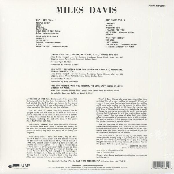 Miles Davis - Volume 1. [LP]