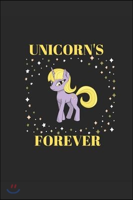 Unicorn's Forever: Funny Fantasy Children Adult Cute Women Girls Soft Cover Matte Finish a Great Gift Writing 120 Pages Notebook Journal