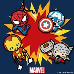 캐릭터 그리기 세트 마블 가와이 시리즈 가와이 토르, 가와이 스파이더맨,  가와이 캡틴 아메리카, 가와이 그루트, 가와이 베놈, 가와이 아이언맨, 가와이 스타로드 (20X20)