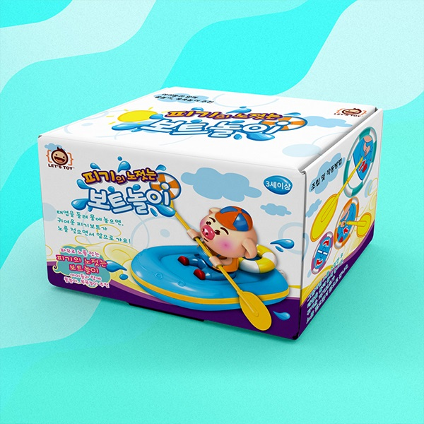 레츠토이 피기의 노젓는 보트놀이 유아 목욕놀이 물놀이 돼지 장난감