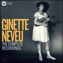 지네트 느뵈 EMI 녹음 전집 (The Complete Recorded Legacy of Ginette Neveu)