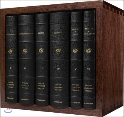 ESV Reader's Bible, Six-Volume Set: With Chapter and Verse Numbers (Cowhide Over Board with Walnut Slipcase): With Chapter and Verse Numbers