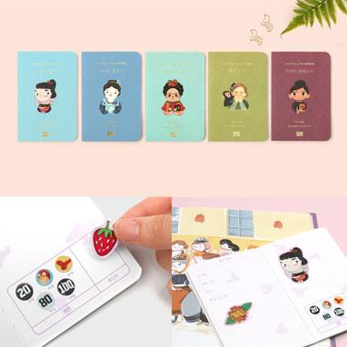〈리틀 피플 빅 드림즈〉 독서 여권 & 스티커 세트 (디자인 랜덤)
