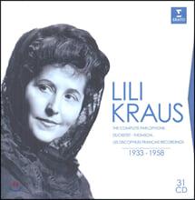 릴리 크라우스 피아노 녹음 전곡집 (Lili Kraus - The Complete Parlophone, Ducretet, Thomson & Discophiles Francais recordings 1933-1958)