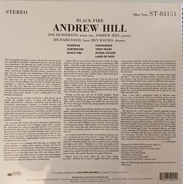 Andrew Hill (앤드류 힐) - Black Fire [LP]
