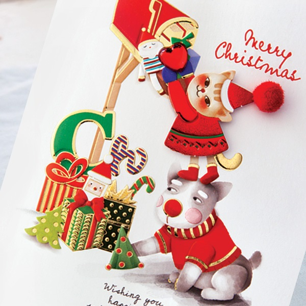 크리스마스카드 FS1031 Set(6종 한세트)