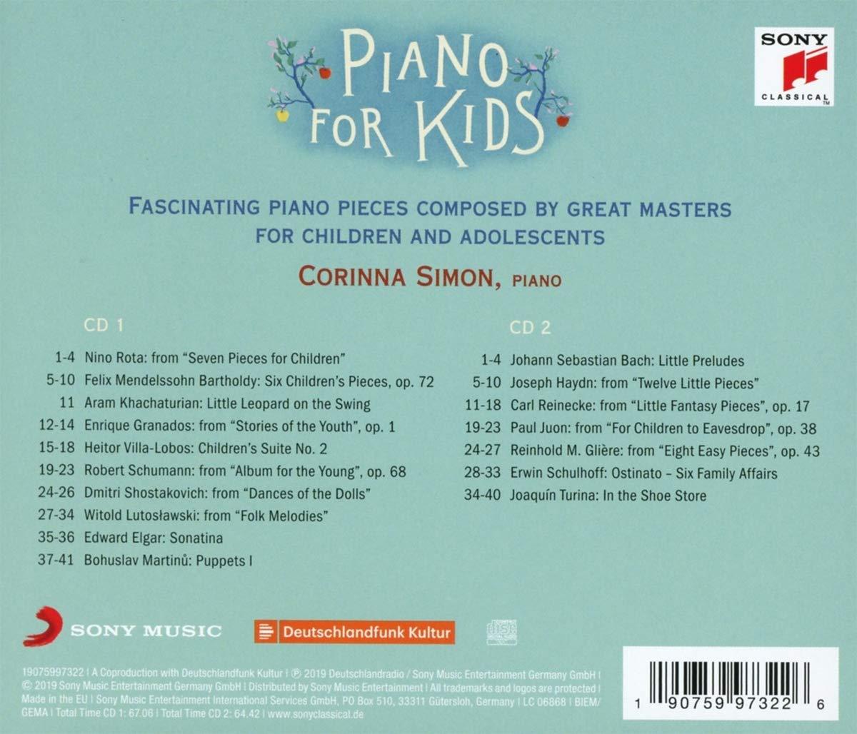 Corinna Simon 어린이를 위한 피아노 작품 모음집 (Piano For Kids)