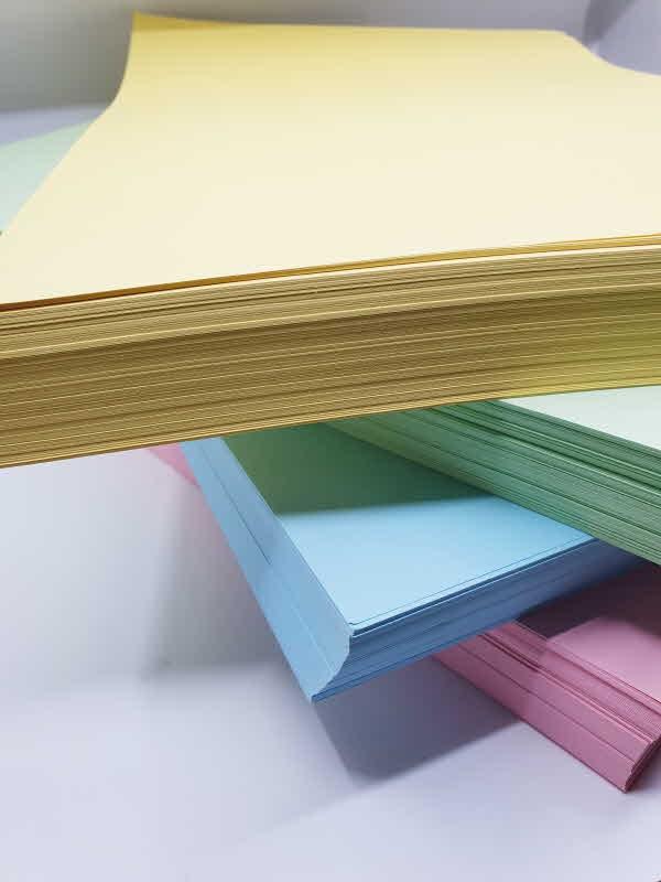 고급 8절 색도화지 1000매 4컬러 (하늘 연두 분홍 노랑) 학습준비물용