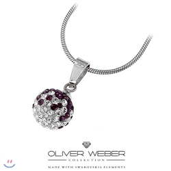 [Oliver Weber] �ø������� Necklace Ball 925 Silver Violet 7510 VIO