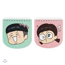 흔남 라운드 수첩(핑크/민트)(랜덤발송)