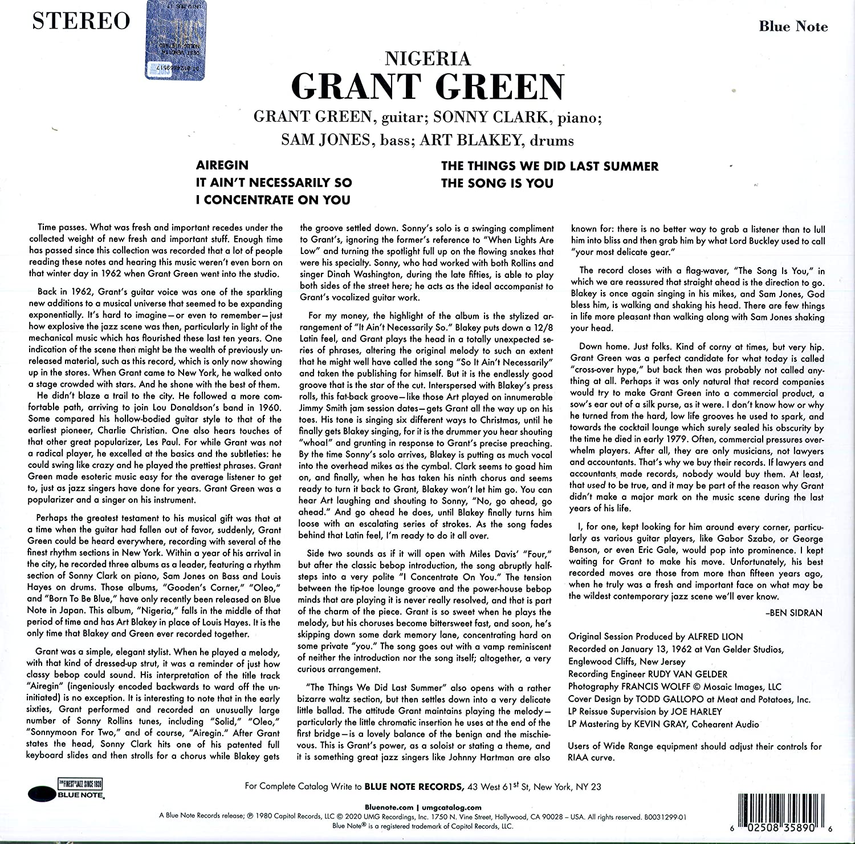 Grant Green (그랜트 그린) - Nigeria [LP]