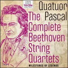 파스칼 사중주단이 연주하는 베토벤 현악 사중주 전집 (Quatuor Pascal - The Complete Beethoven String Quartets)