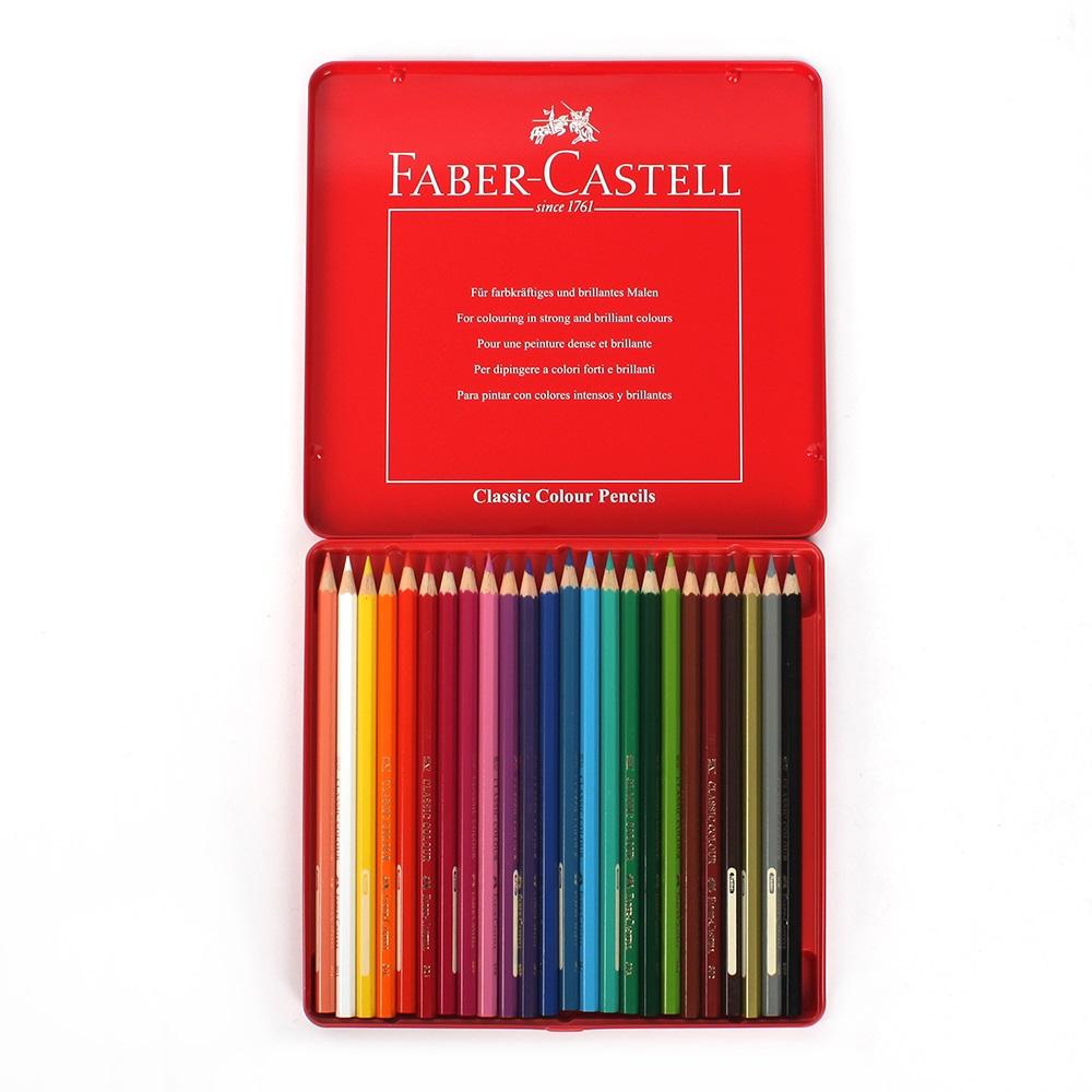 파버카스텔 24색 색연필/ 틴케이스 수채 색연필세트