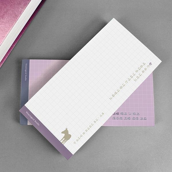시가 담긴 문학 떡메모지 12종 단품 (윤동주, 정지용, 이상, 김소월, 백석 등)