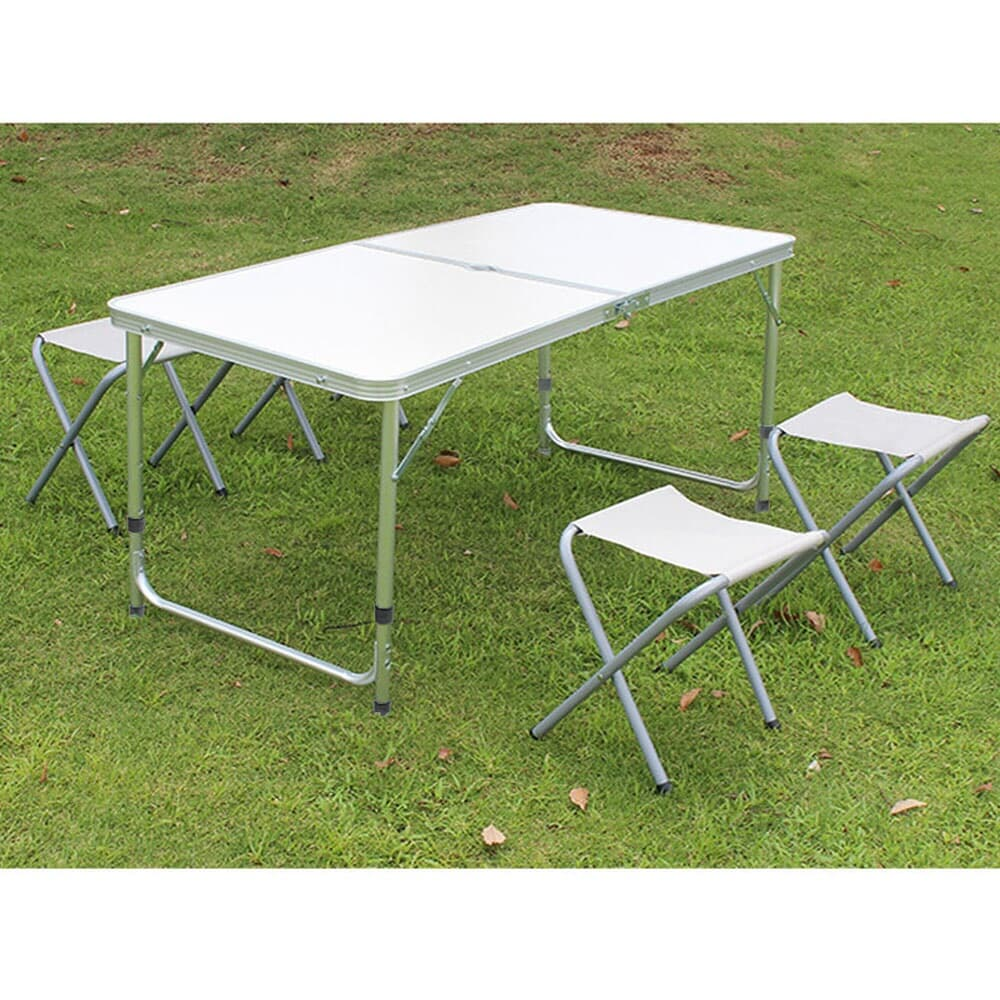 4인용 접이식 캠핑테이블 의자세트(화이트)