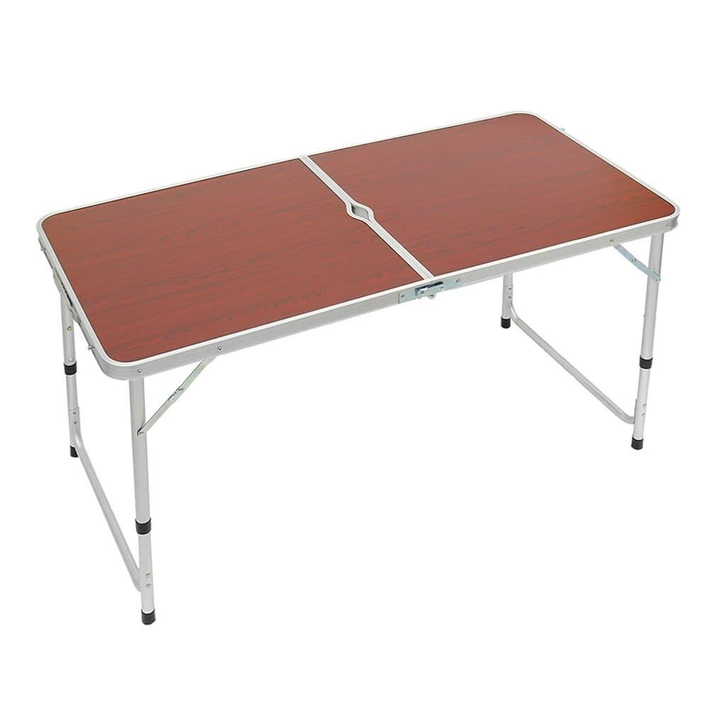 높이조절 접이식 캠핑테이블(브라운)/ 야외용테이블