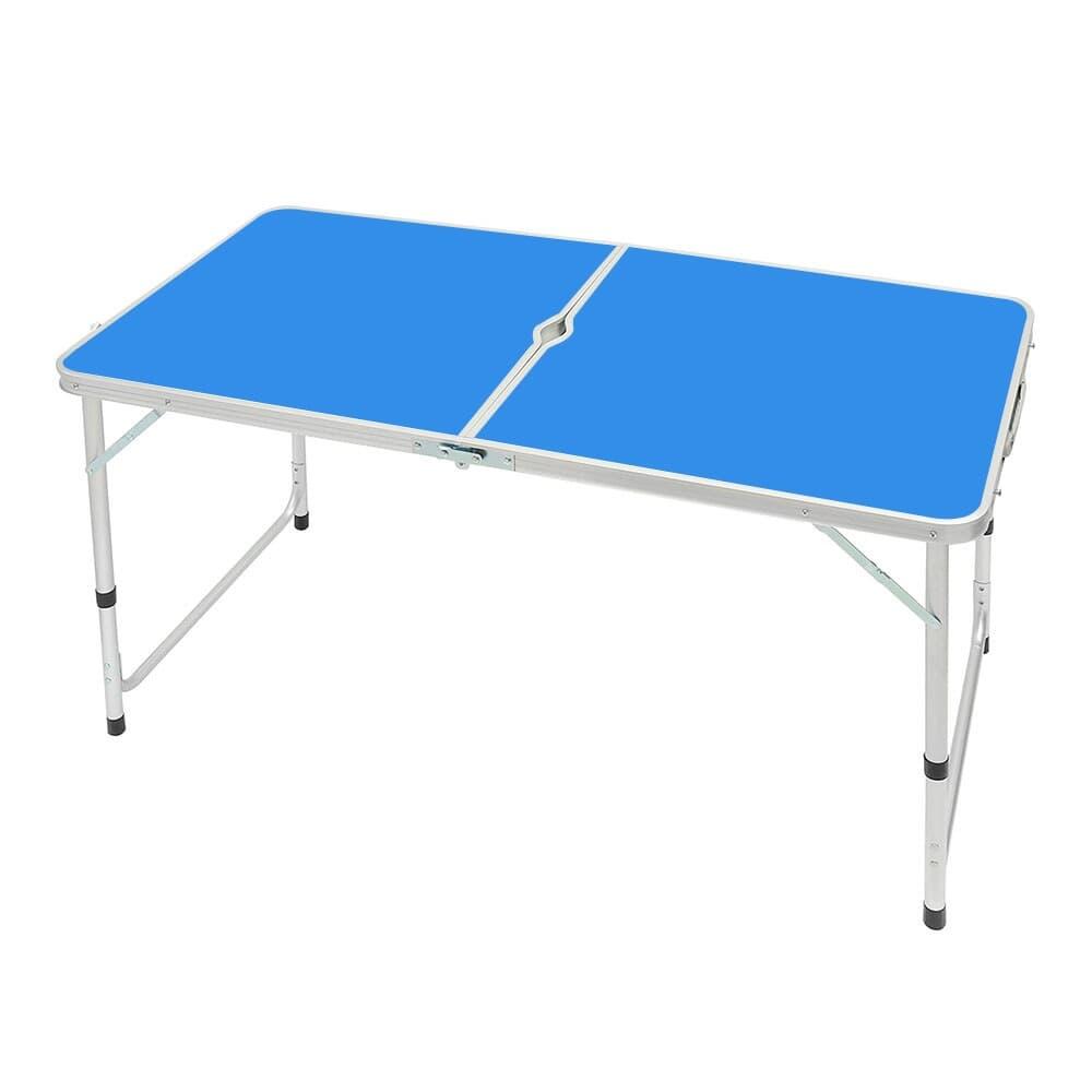 높이조절 접이식 캠핑테이블(블루)/ 야외용테이블