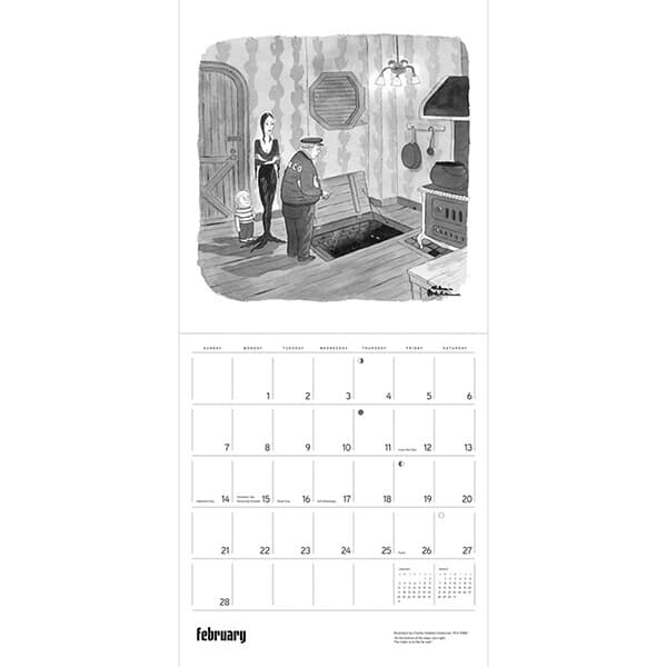 2021년 캘린더 Charles Addams: The Addams Family