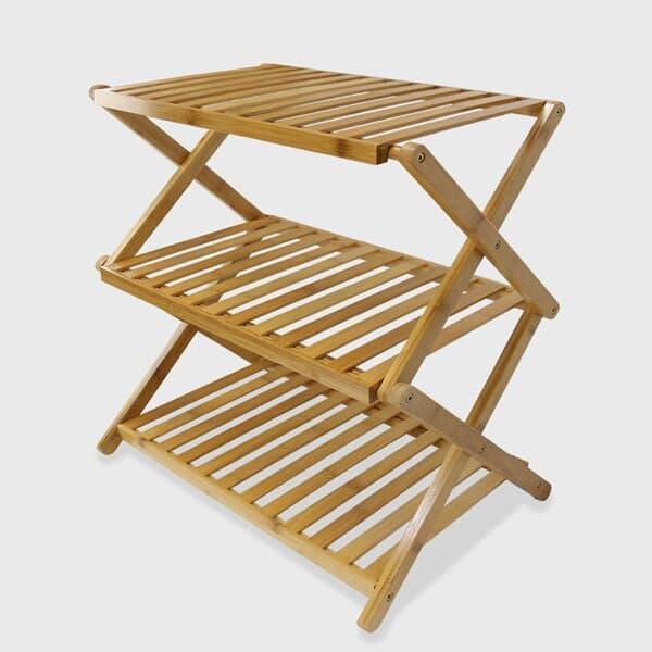 버팔로 캠핑선반 캠핑테이블 우드쉘프3단 다용도선반