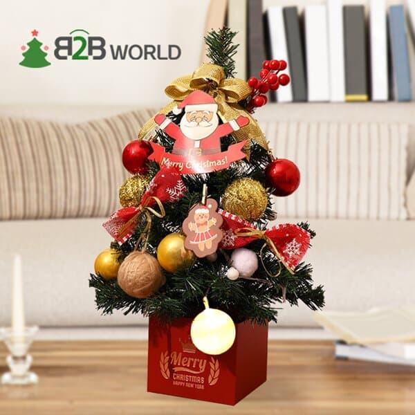 [무료배송] 크리스마스 45cm 풀세트 미니트리 전구포함 풀패키지