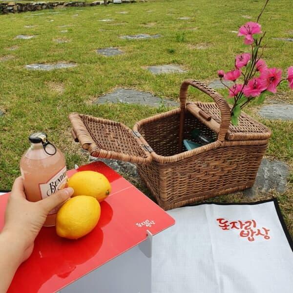 돗자리밥상 피크닉 캠핑 종이 테이블 D400