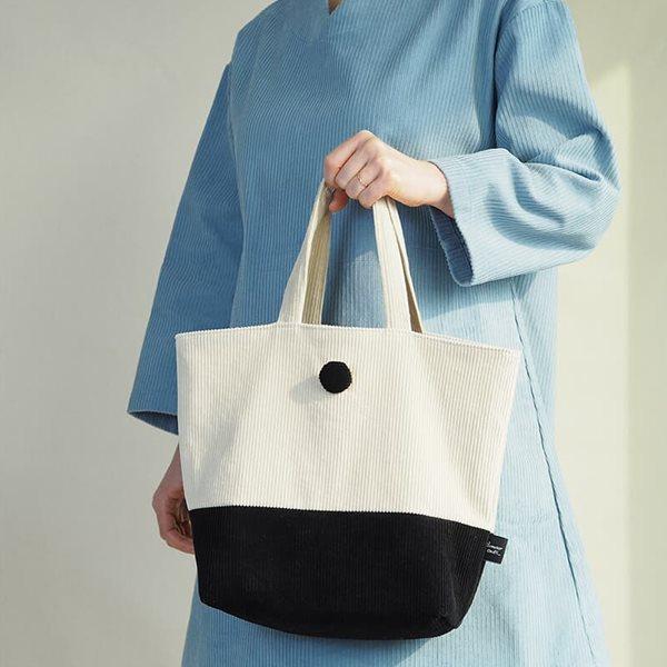 데메테르앤드 [corduroy tote bag] beige