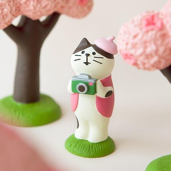 데꼴 2021 벚꽃 피규어 카메라고양이