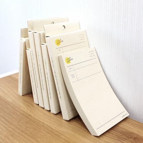 킵드리밍 친환경 제로웨이스트 메모패드(9x15cm)