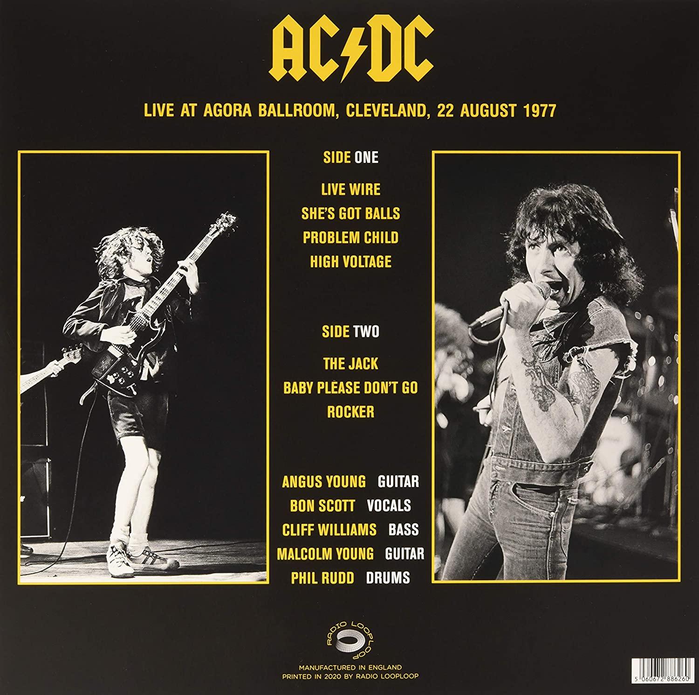AC/DC (에이씨디씨) - Live At Agora Ballroom Cleveland 22 August 1977 [LP]