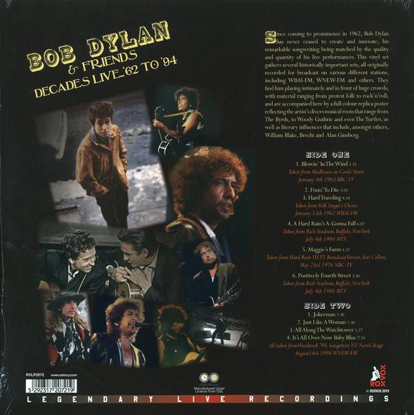 Bob Dylan & Friends (밥 딜런 앤 프렌즈) - Decades Live '62-'94 [LP]