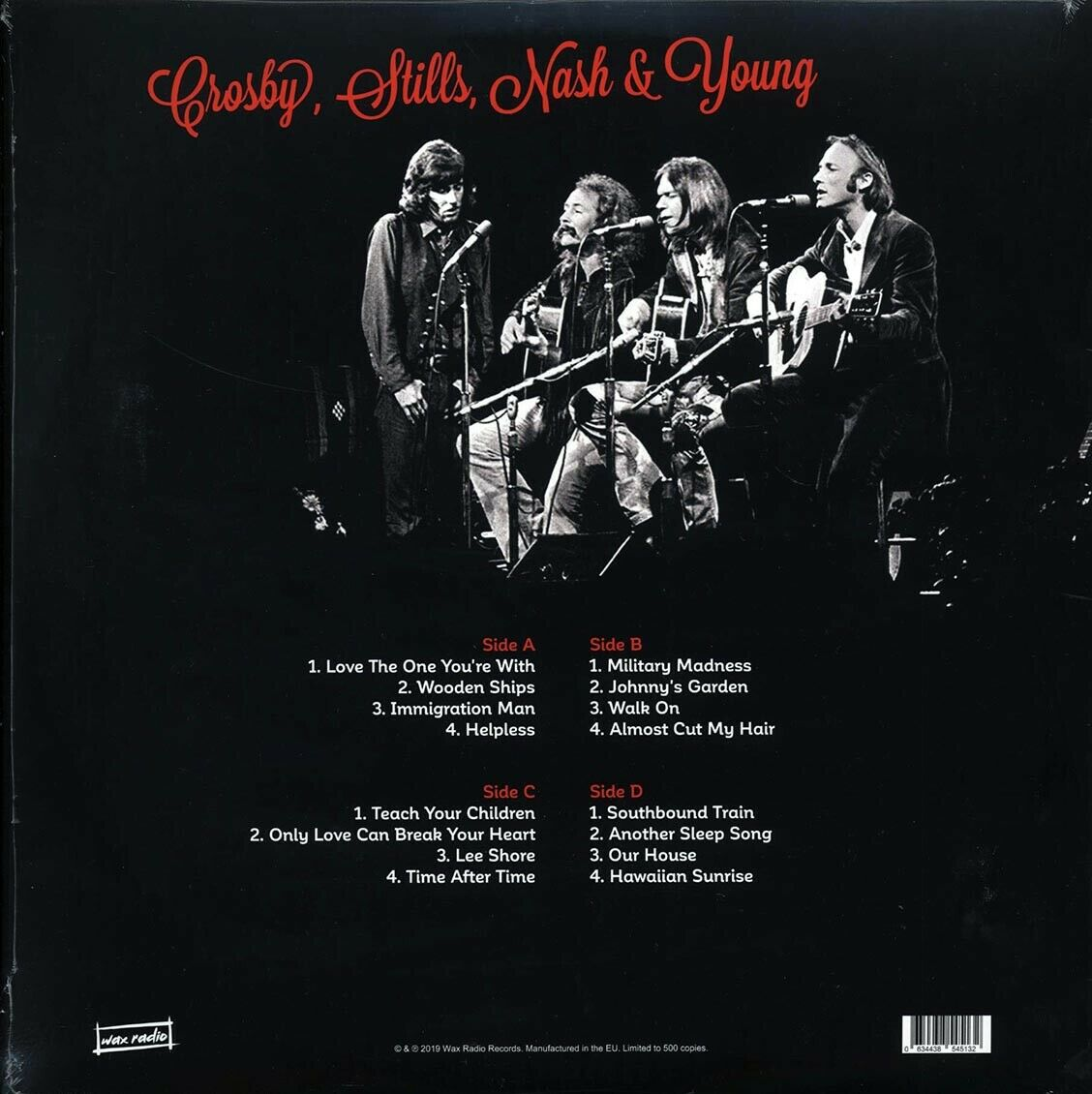 Crosby, Stills, Nash & Young (크로스비, 스틸스, 내쉬 앤 영) - Roosevelt Raceway, Westbury, September 1974: FM Broadcast [2LP]