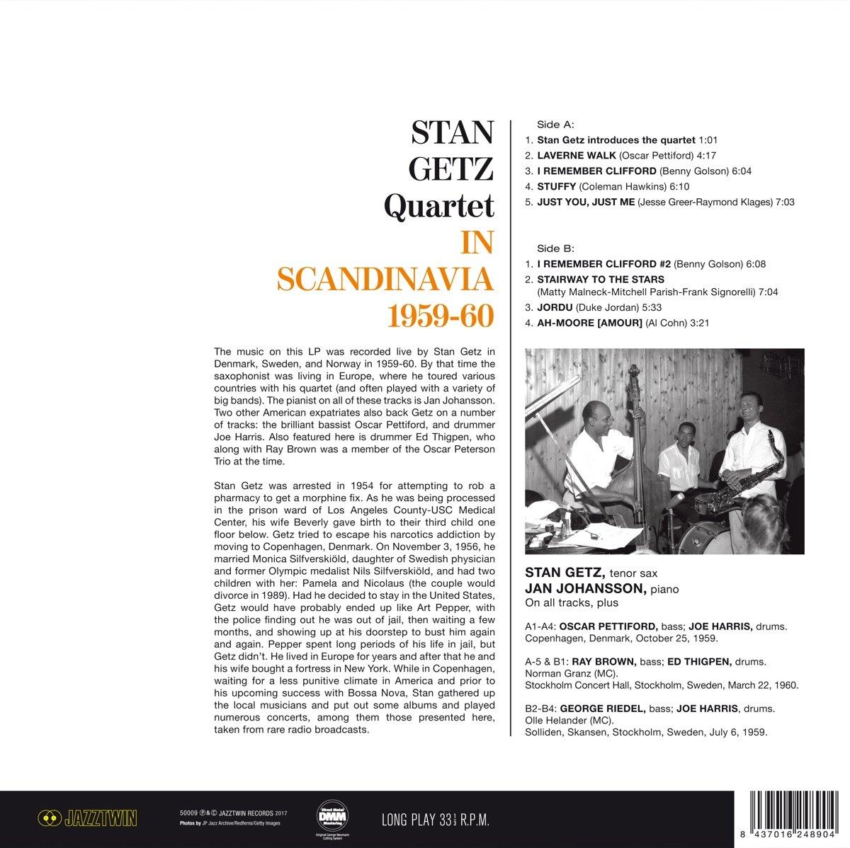Stan Getz Quartet (스탄 게츠 쿼텟) - In Scandinavia 1959-1960 [LP]