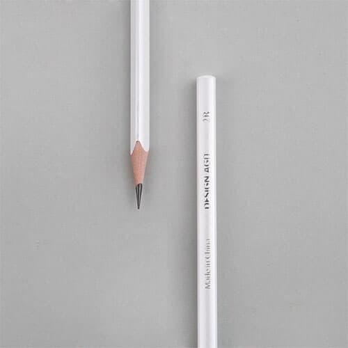 [주문제작]네임연필2B 6자루화이트 냥냥이