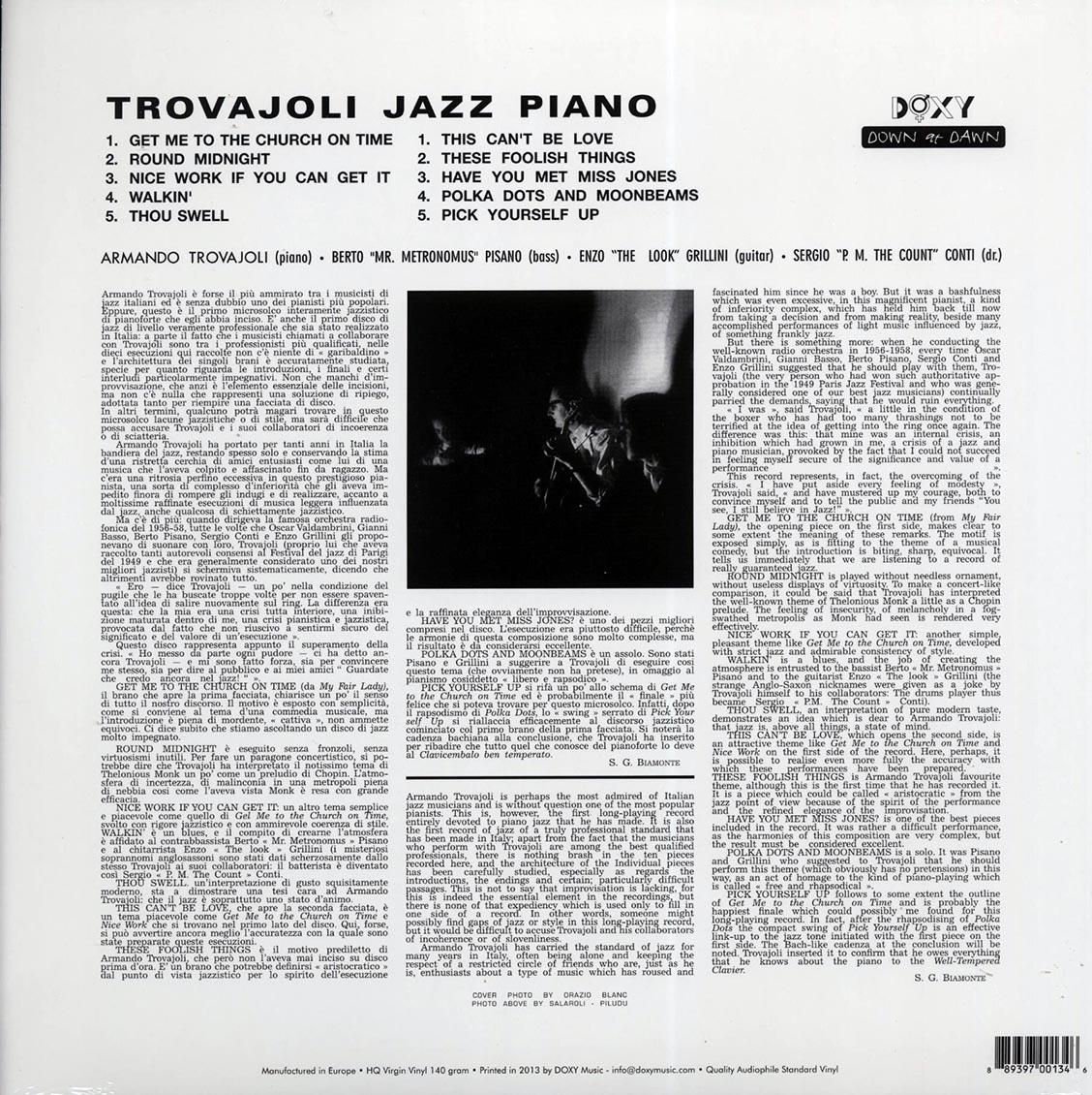 Armando Trovaioli (아르만도 트로바졸리) - Trovajoli Jazz Piano [LP]