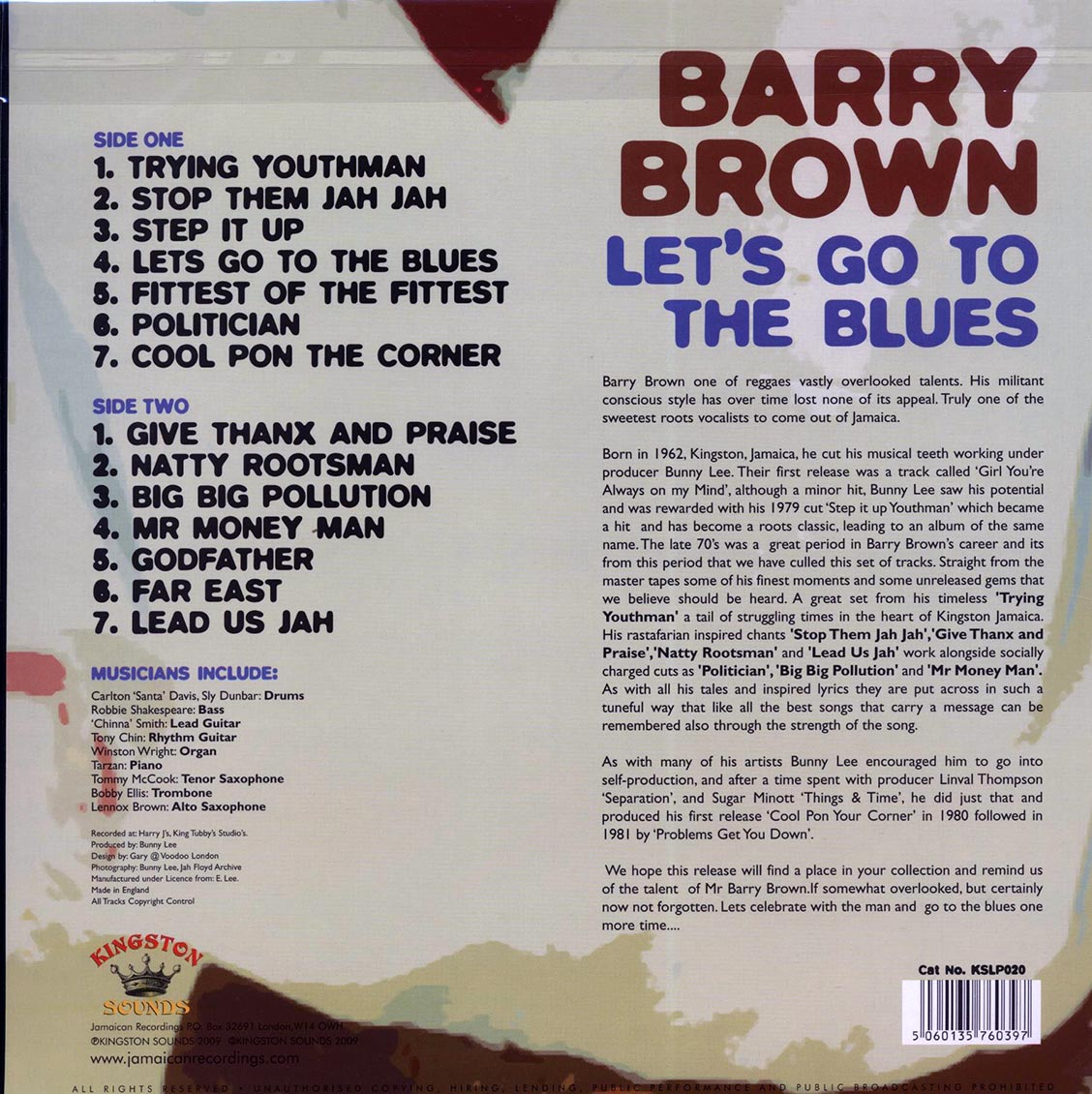 Barry Brown (배리 브라운) - Let's Go To The Blues [LP]