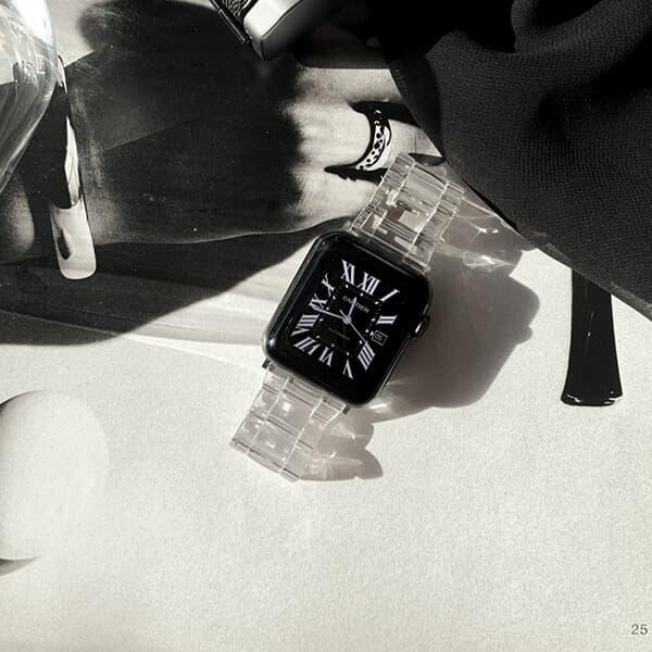애플워치 투명 체인 버클 스트랩밴드