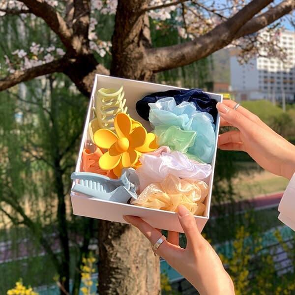집게핀 곱창밴드 14종 봄 여름 헤어 박스