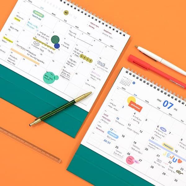 2022 프리즘 탁상 달력 (날짜+만년형) 데스크 캘린더