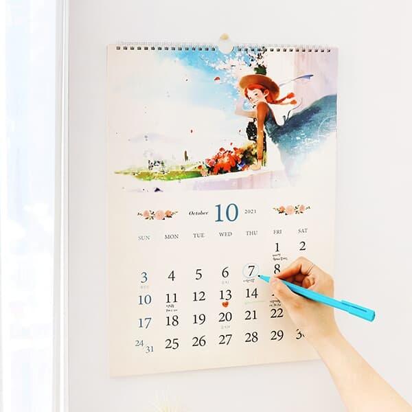 2022 빨간머리앤 벽걸이 달력-A3