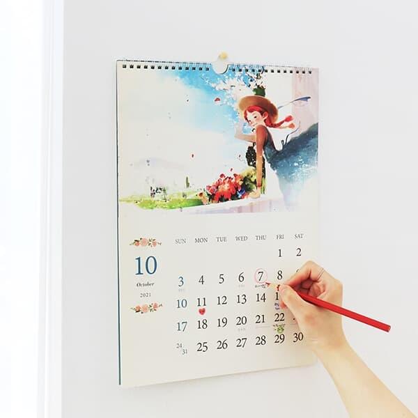 2022 빨간머리앤 벽걸이 달력-B4