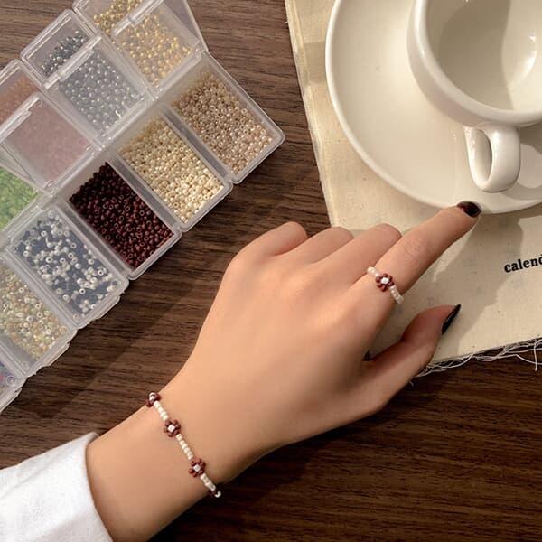 가을 겨울 비즈 반지 마스크줄 DIY 만들기 집콕 키트 세트