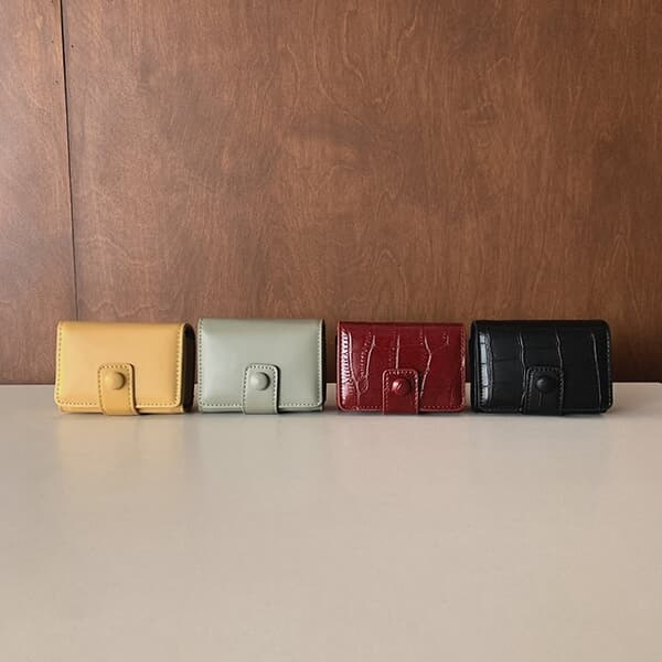컴팩트 파우치 크로스백 립스틱 케이스 4color
