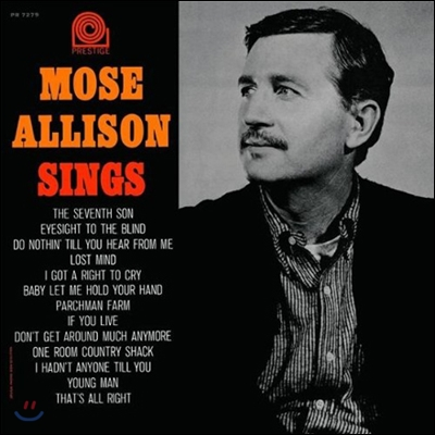 Mose Allison - Mose Allison Sings (Prestige 75th Anniversary / Limited Edition / Back To Black)