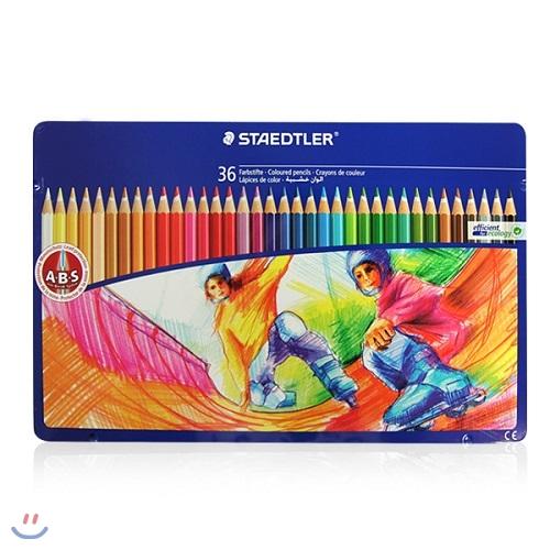 [YES24총알배송] 스테들러 145 색연필 틴케이스 36색세트