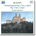 Kodaly Quartet 하이든 : 현악 사중주 작품 2 / 3,5번, 작품 3 / 1,2번 - 코다이 사중주단