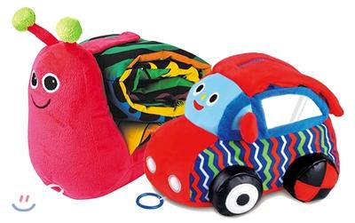 아기 헝겊책 2종 세트 : 꿈꾸는 달팽이 + 꿈꾸는 자동차