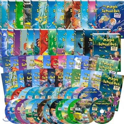 DVD 스쿨버스 1+2+3+4+5집 26종 풀세트(영한대본 26권+종이책꽂이 포함)  THE MAGIC SCHOOL BUS