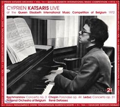 Cyprien Katsaris 라흐마니노프: 피아노 협주곡 3번 [퀸 엘리자베스 콩쿠르 실황] (Rachmaninov, Leduc & Chopin)