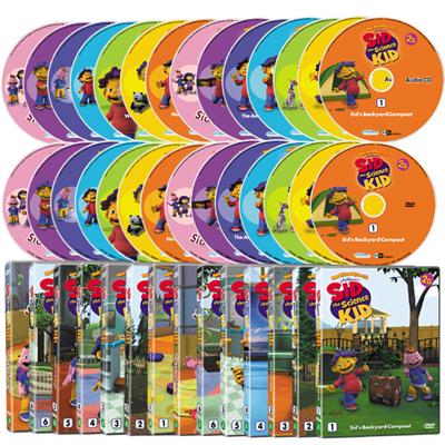 New 꼬마 과학자 시드 1+2집 28종세트 (DVD14종 + 오디오CD14종)