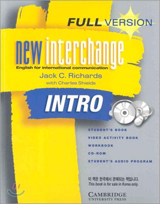 (2판)New Interchange Intro : Full Version (Student Book+ Work Book+ Audio CD+ Video Activity Book)
